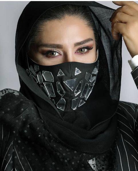 ماسک متفاوت نسیم ادبی + عکس