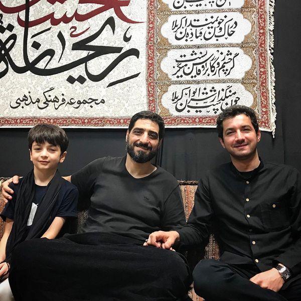 آقای مجری بااخلاق و پسرش در هیئت مداح معروف+عکس