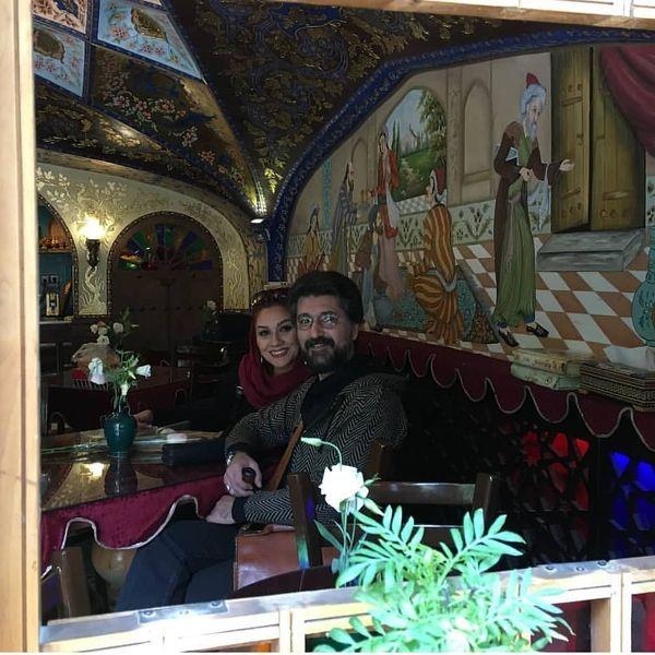 رستوران گردی امیرحسین مدرس و بانو+عکس