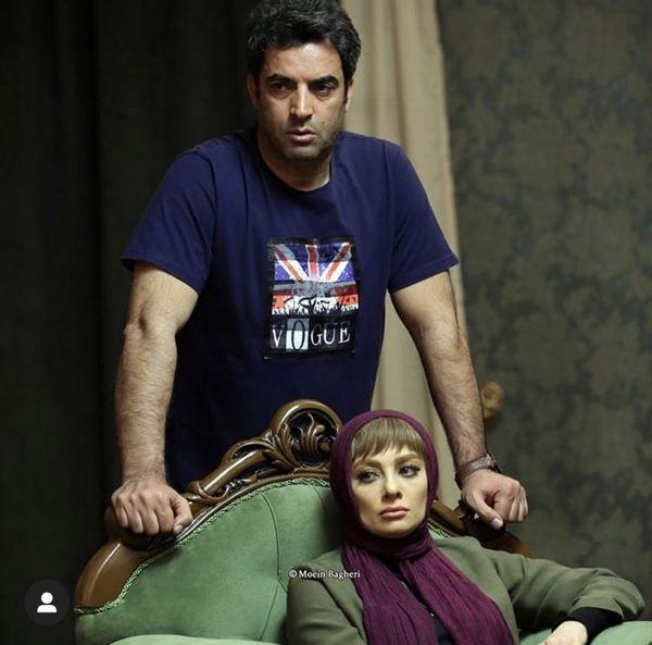 کارگردان معروف در کنار همسر بازیگرش + عکس