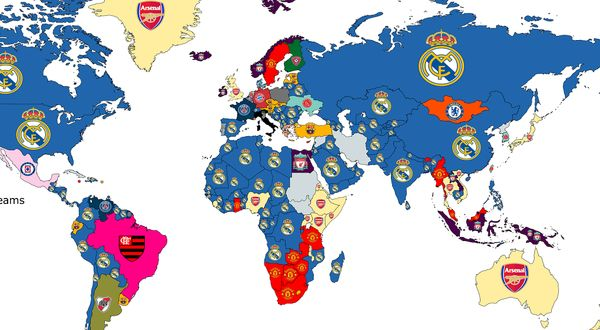محبوبترین تیم فوتبال جهان مشخص شد + عکس