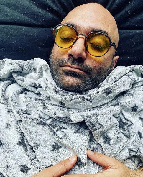 مهدی کوشکی در خواب + عکس