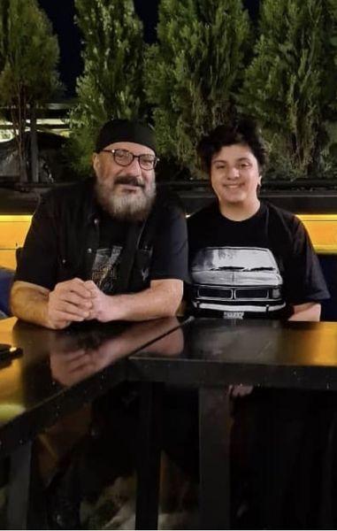 شام دو نفره امیر جعفری و پسرش + عکس