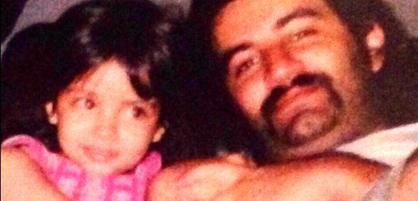 عکس زیر خاکی مهراب قاسمخانی و دخترش + عکس