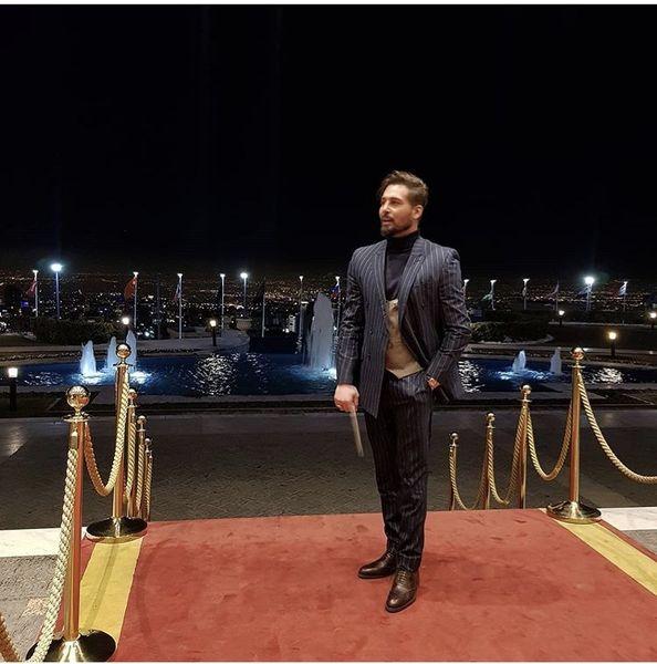 بازیگر مشهور ایرانی روی فرش فرمز + عکس