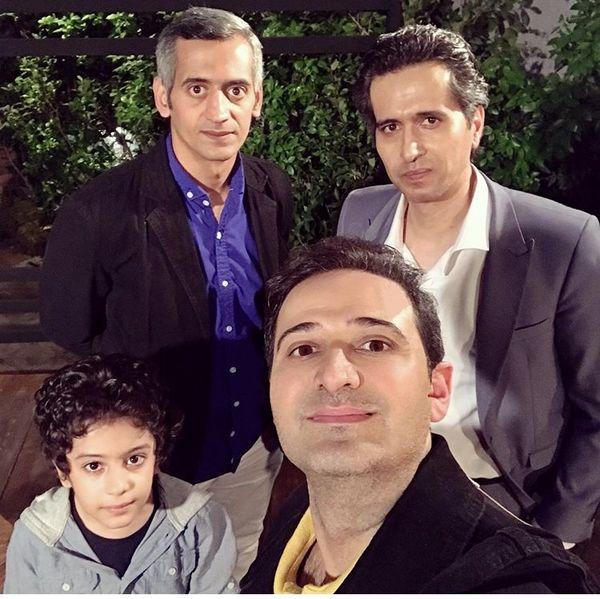 سلفی مجری ایران با بازیگر قصه های مجید /عکس