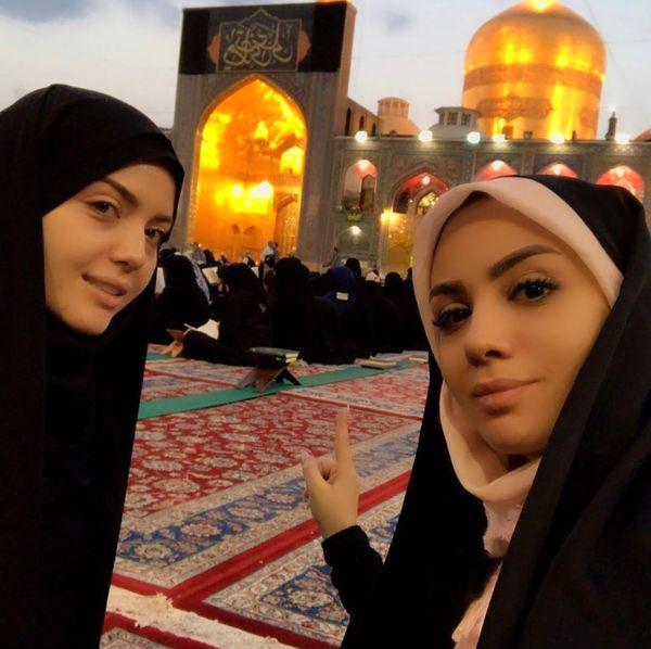 عکس زیبای مبینا نصیری در مشهد