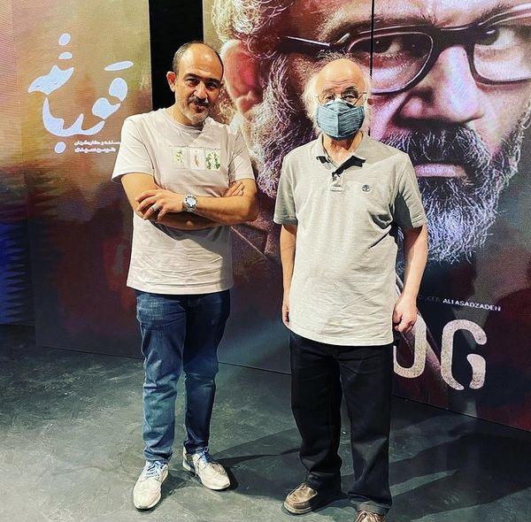 مهران غفوریان در کنار فریدون جیرانی + عکس