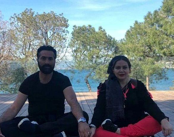ورزش کردن بهاره رهنما و همسرش در طبیعت+عکس