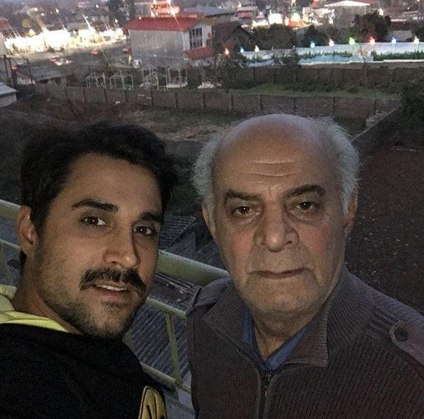 سلفی مرحوم سیروس گرجستانی با پسرش + عکس