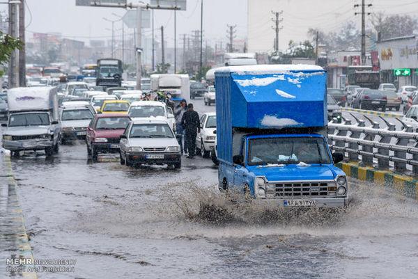 برف و باران در مناطقی از کشور