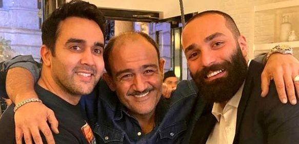 پوریا پورسرخ در کنار مهران غفوریان و خواننده پرحاشیه + عکس