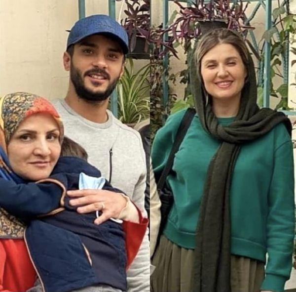 گلوریا هاردی در کنار شوهر و مادر شوهرش + عکس