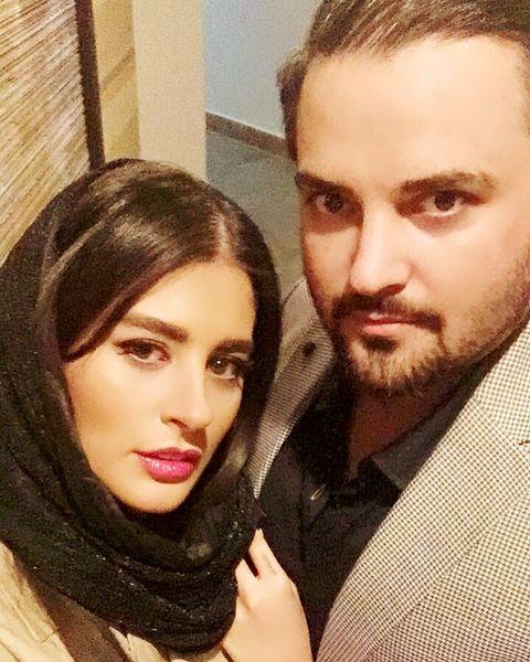 مهدی سلوکی متین و بی حاشیه در کنار همسرش
