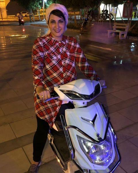وسیله نقلیه متفاوت فاطمه گودرزی+عکس
