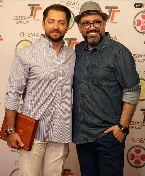 رضا رشیدپور و بهرام رادان در یک مراسم + عکس