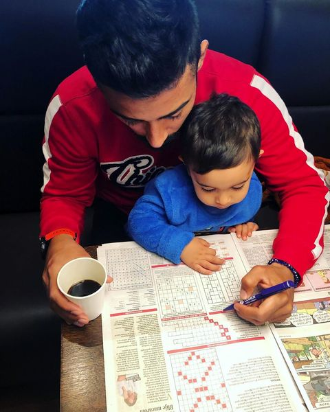 سرگرمی رضا قوچان نژاد با پسرش+عکس