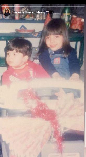 عکس از کودکی دختر مهراب قاسمخانی