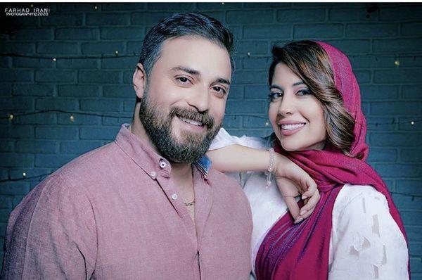بابک جهانبخش و همسرش + عکس