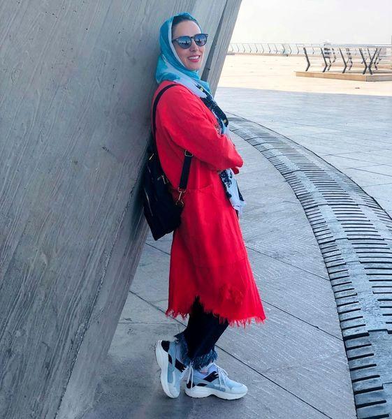 تازه عروس سینمای ایران در حال تفریح + عکس