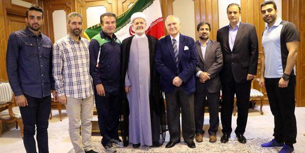 دیدار استیلی با سفیر ایران در عمان + عکس