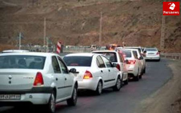 ترافیک آزادراه قزوین - رشت سنگین است