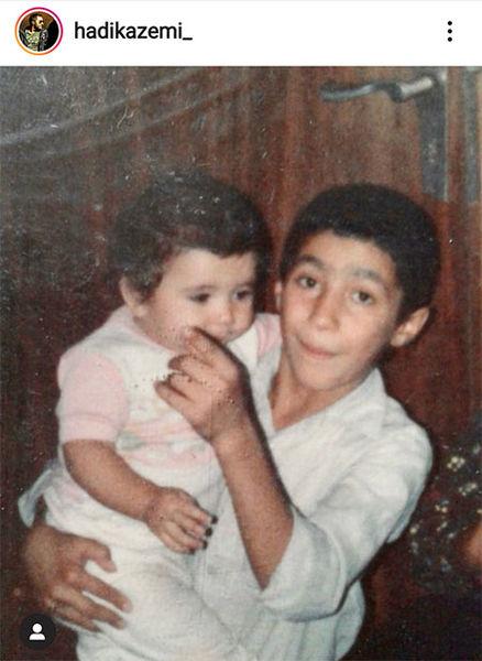 جشن تولد برادر کوچک هادی کاظمی + عکس