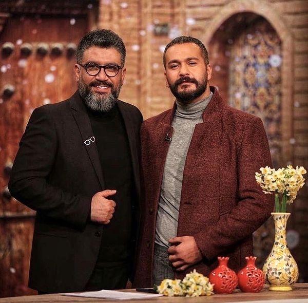 رضا رشیدپور در کنار بازیگر ممنوعه + عکس