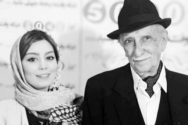 عکس داریوش اسدزاده با بازیگر جنجالی سینما