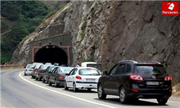ترافیک محور هراز نیمه سنگین است