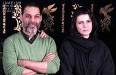 حرف درگوشی پیمان معادی با لیلا حاتمی/ عکس