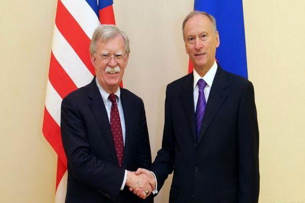 دبیر شورای امنیت ملی روسیه با «جان بولتون» دیدار کرد