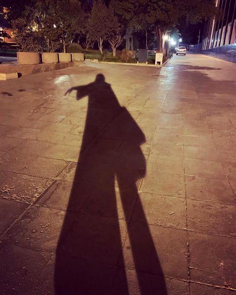 وقتی مهراوه شریفی نیا با سایه اش خلوت می کند+عکس