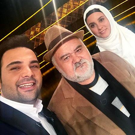 حضور اکبر عبدی و دخترش در برنامه احسان علیخانی + عکس