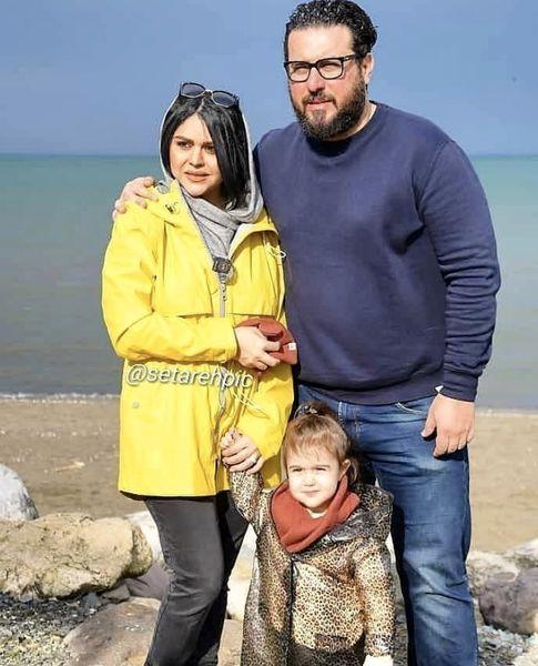 خانواده سه نفره محسن کیایی در شمال + عکس