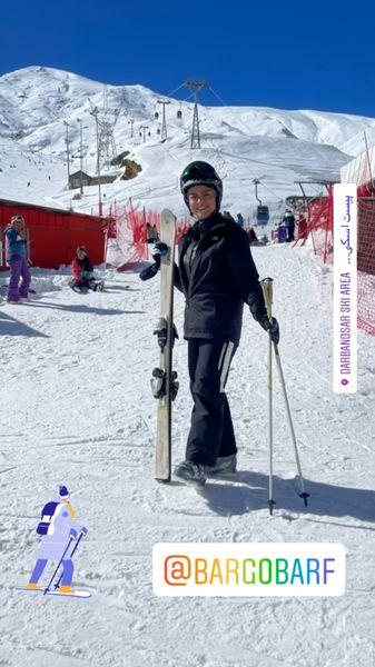 شبنم فرشادجو با لباس اسکی + عکس