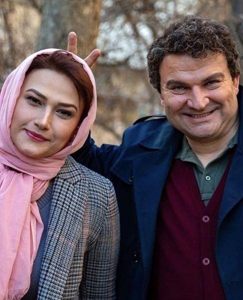 شوخی مهدی سلطانی با لادن مستوفی + عکس