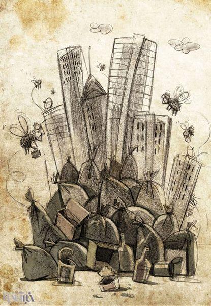 کاریکاتور/ زندگی در زباله!
