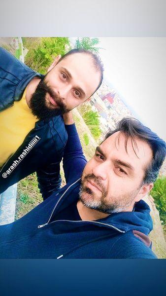 شهرام قائدی و دوستش + عکس