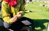 کوهنوردی کردن خانم بازیگر مشهور + عکس