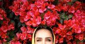 سوگل طهماسبی غرق در گلها شد + عکس