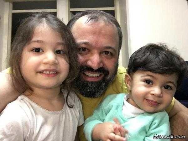 بازیگر مرد میکائیل در کنار خواهرزاده هایش+عکس