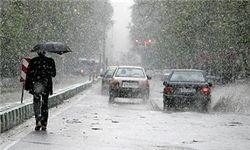 بارش سنگین برف پاییزی در شمیرانات + فیلم
