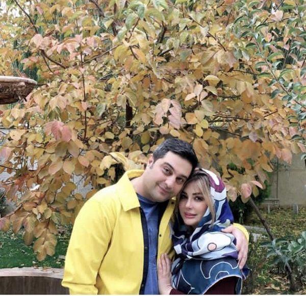 نیوشا ضیغمی در کنار همسرش + عکس