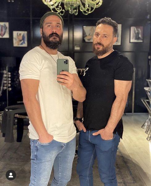 میلاد کی مرام و دوست خوشتیپش + عکس