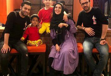 لیلا بلوکات در کنار پسر هنرمندش در عصر جدید+عکس