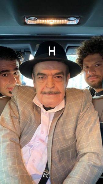 حمید لولایی و دامادهایش + عکس
