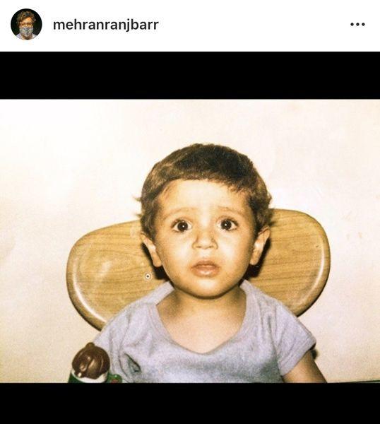 کودکی های مهران رنجبر + عکس