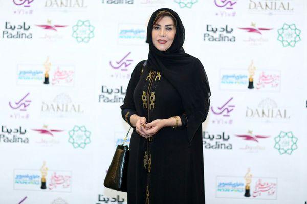 مانتو عربی خانم مجری در جشن حافظ+عکس