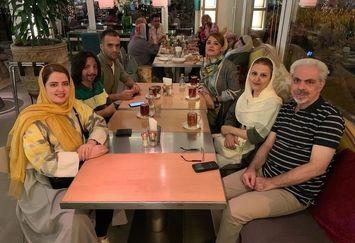 رستوران گردی فرهاد ایرانی و پدر زن و مادر زنش+عکس